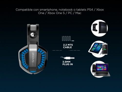 Auricular Gamer Gadnic A-37 Pro Microfono