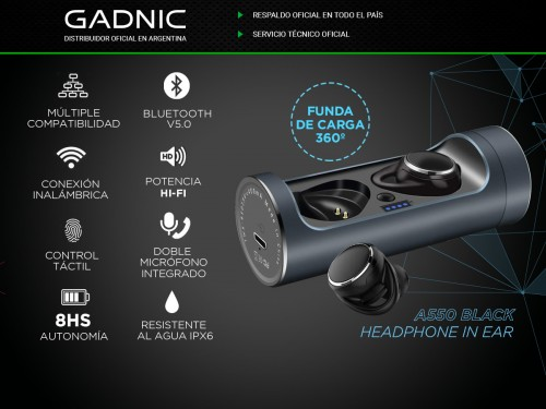 Auriculares Bluetooth Gadnic A550 In Ear
