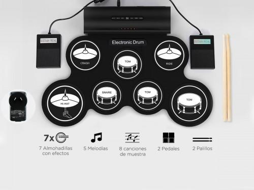 Batería Electrónica Silicona Flexible 7 Pads