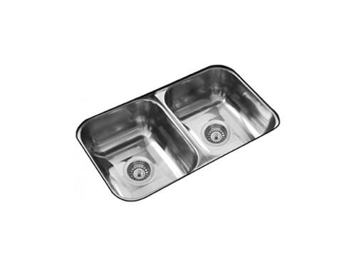Pileta de Cocina Doble Acero 304 Johnson 59X34X18 C28/18