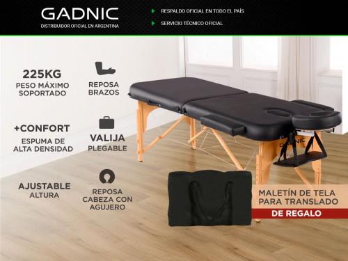Camilla Para Masajes Gadnic Profesional Hasta 225kg 185x70cm Plegable