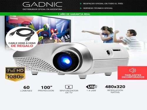 Mini Proyector Gadnic Max Style 60 Lúmenes Portátil HDMI VGA Sinto TV