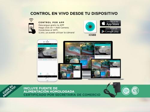 Cámara de Seguridad Gadnic Domo Motorizado WiFi Full HD Visión Nocturn