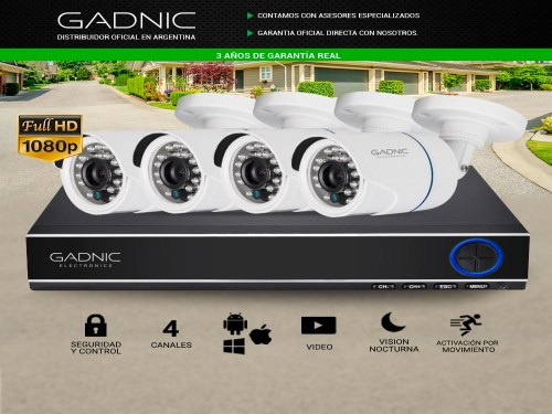 Kit de Seguridad P2P IP 4 Cámaras + DVR
