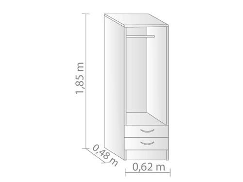 Placard 2 puertas 2 cajones y 1 bárral, optimiza el espacio de tu ropa