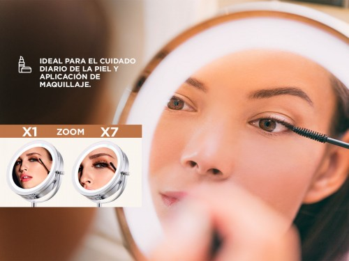 Espejo para Maquillaje Gadnic Led GMD710 7X/1X