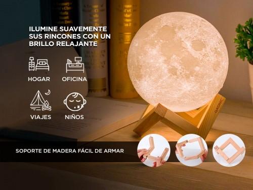 Lampara Luna Velador Recargable Gadnic 18cm