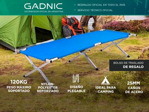 Catre Plegable Gadnic Aluminio Polyester 120kg