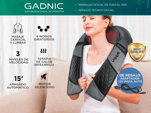 Masajeador Gadnic Ceibo Cervical y Lumbar Shiatsu Terapia Calor