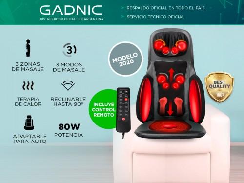 Masajeador Gadnic Relax Time Cuello Espalda y Glúteos 3 Modos