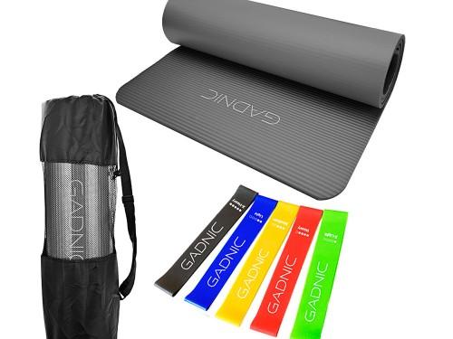 Colchoneta Yoga Mat NBR + Kit de Bandas de Resistencia