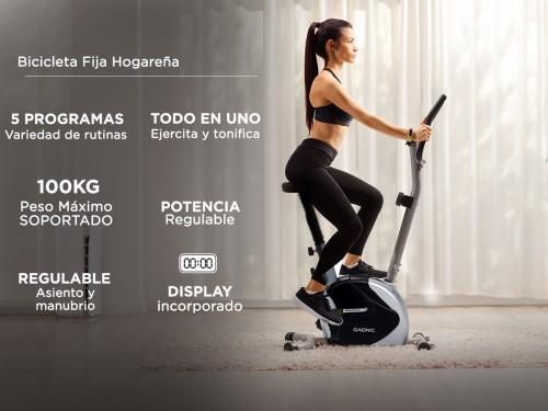 Bicicleta Fija Gadnic B-18 5 Funciones Hogareña