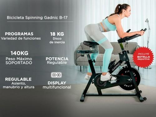 Bicicleta Spinning Gadnic B-17 Disco 18kg