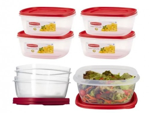 6 Contenedores Rubbermaid Easy Find Lids 3.3lts Original Usa