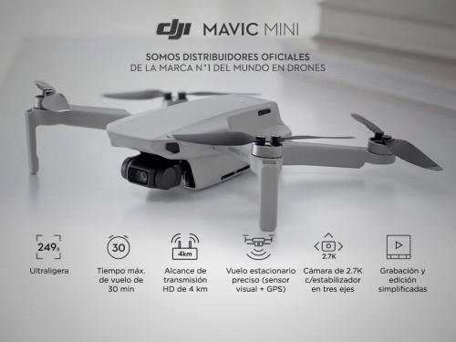 Drone DJI Mavic Mini Cámara 2.7K Vuelos Automáticos