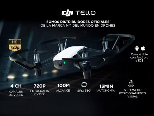 Drone DJI Tello Cámara HD Video y Foto en Vivo Giros 8D