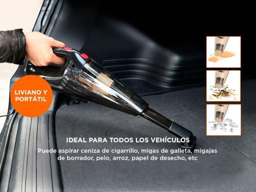 Aspiradora De Mano 12 volt Para Auto Portatil Polvo