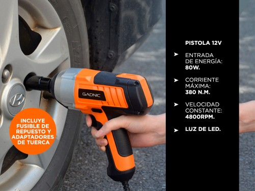 Kit Crique Gadnic + Pistola + Accesorios 12 volt AV000013