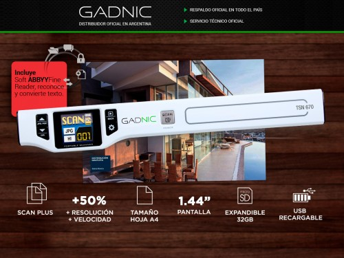 Scanner Portátil Gadnic TSN-670 1200DPI