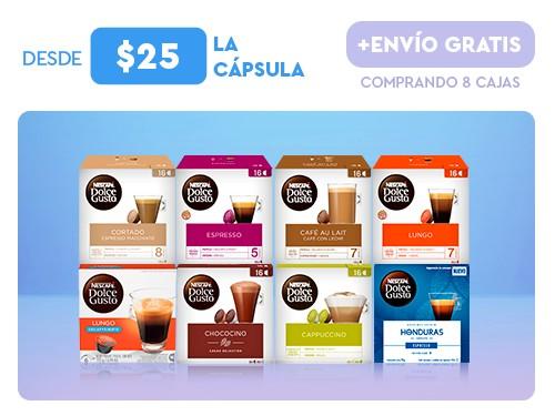 Cápsulas de café, latte y chocolate