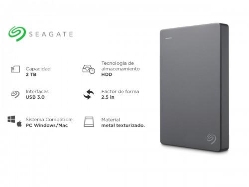 Disco Externo Seagate 2 Tb Usb 3.0