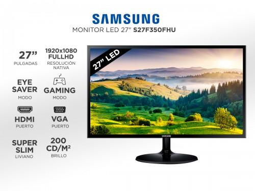 "Monitor Samsung 27"" F350 Flat FHD 16:9 60Hz Hdmi"
