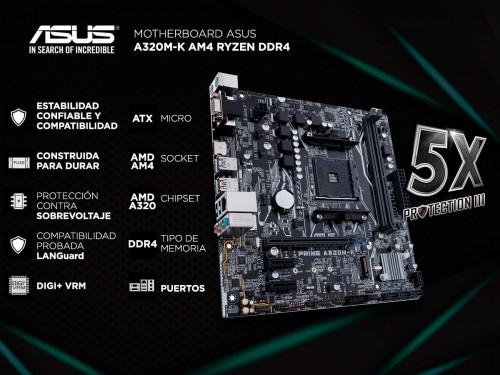 Motherboard Asus A320M-K AM4 Ryzen DDR4
