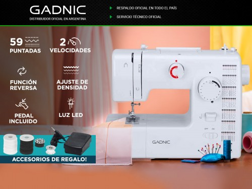 Maquina De Coser Gadnic SW5000 59 Puntadas Electronica Pedal