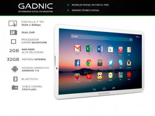 "Tablet Gadnic Phone-7 Gamer 3G Quadcore 32gb 2gb 7"" IPS"