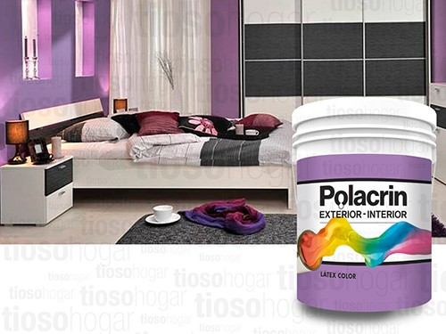 Latex Color Interior Exterior Polacrin Lavable 4 Premium Lts