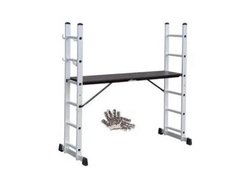 Guantes Y Escalera Andamio De Aluminio 2x7 Kld
