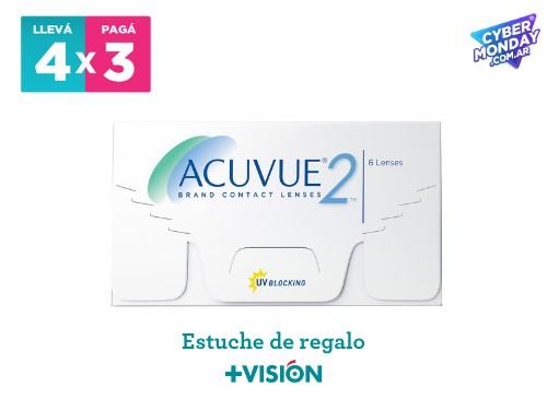 Lentes de contacto Acuvue2 | promo 4x3 + estuche de regalo.