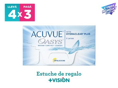 Lentes de contacto Acuvue Oasys | promo 4x3 + estuche de regalo.