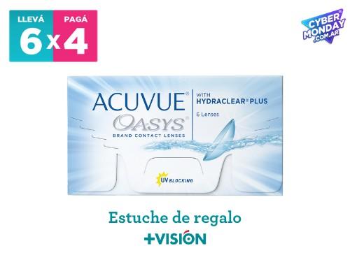 Lentes de contacto Acuvue Oasys | promo 6x4 + estuche de regalo.