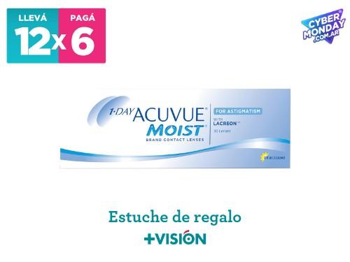 Lentes de contacto Acuvue 1 Day moist | promo 12x6 + estuche de regalo