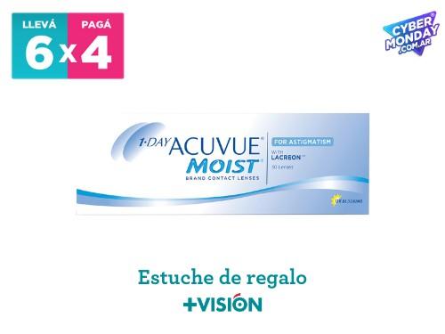 Lentes de contacto Acuvue 1 Day moist | promo 6x4 + estuche de regalo.