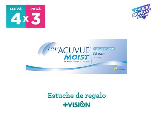 Lentes de contacto Acuvue 1 Day moist | promo 4x3 + estuche de regalo.