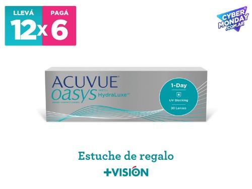 Lentes de contacto Acuvue Oasys 1 | promo 12x6 + estuche de regalo.