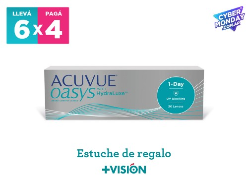 Lentes de contacto Acuvue Oasys 1 Day | promo 6x4 + estuche de regalo.