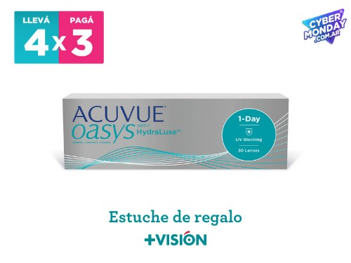 Lentes de contacto Acuvue Oasys 1 Day | promo 4x3 + estuche de regalo.