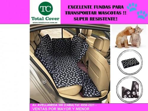 Funda Protectora Autos Perros, Gatos Mascotas Resistente +2 CINTURONES