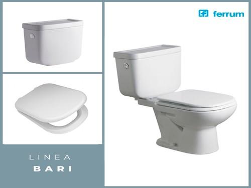Combo Sanitarios FERRUM Inodoro Largo Completo Bari | IMPERDIBLE!!!!