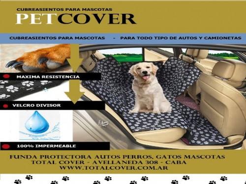 Funda Protectora Autos Perros, Gatos Mascotas + 1 CINTURON