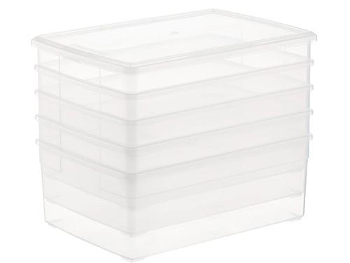 Set X4 Cajas Organizadoras Ropa Cocina Baño 17 Litros Clear
