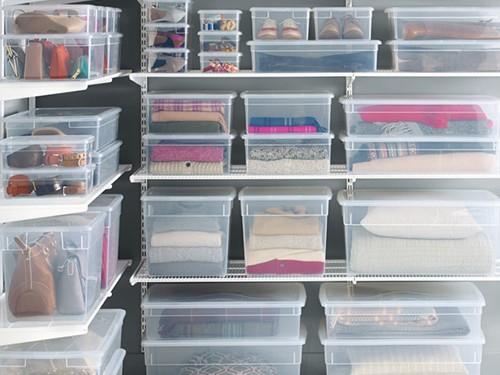 Set X6 Cajas Organizadoras Ropa Cocina Baño 10 Litros Clear