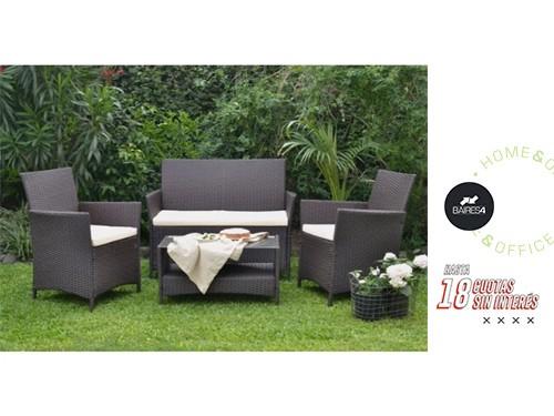 Set de Jardín Ollie Sillones + Mesa de Rattan BAIRES4