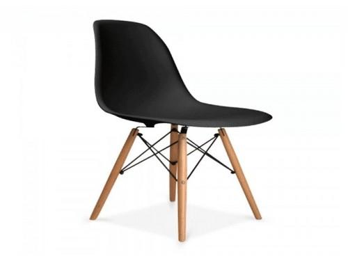 Silla comedor diseño moderno Eames base madera