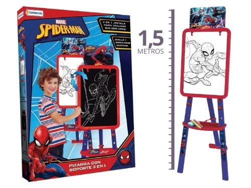 Spiderman Pizarrón +1m C Atril Tiza Y Marcador Pizarra