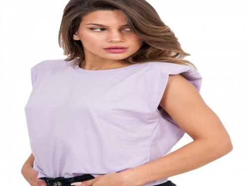 Remera Con Hombreras Liviana Mujer 100% Algodon Brishka