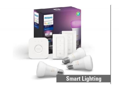 Kit HUE Bridge 3 lámparas de 9,5W blanco/color y 2 dimmer switch
